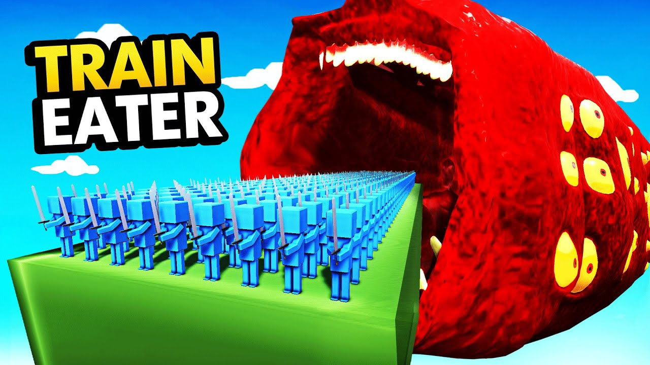 Rescuing BLUE ARMY From GIANT TRAIN EATER 2.0
