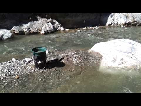 Gold prospecting , Azusa Canyon, East fork of the San Gabriel river.