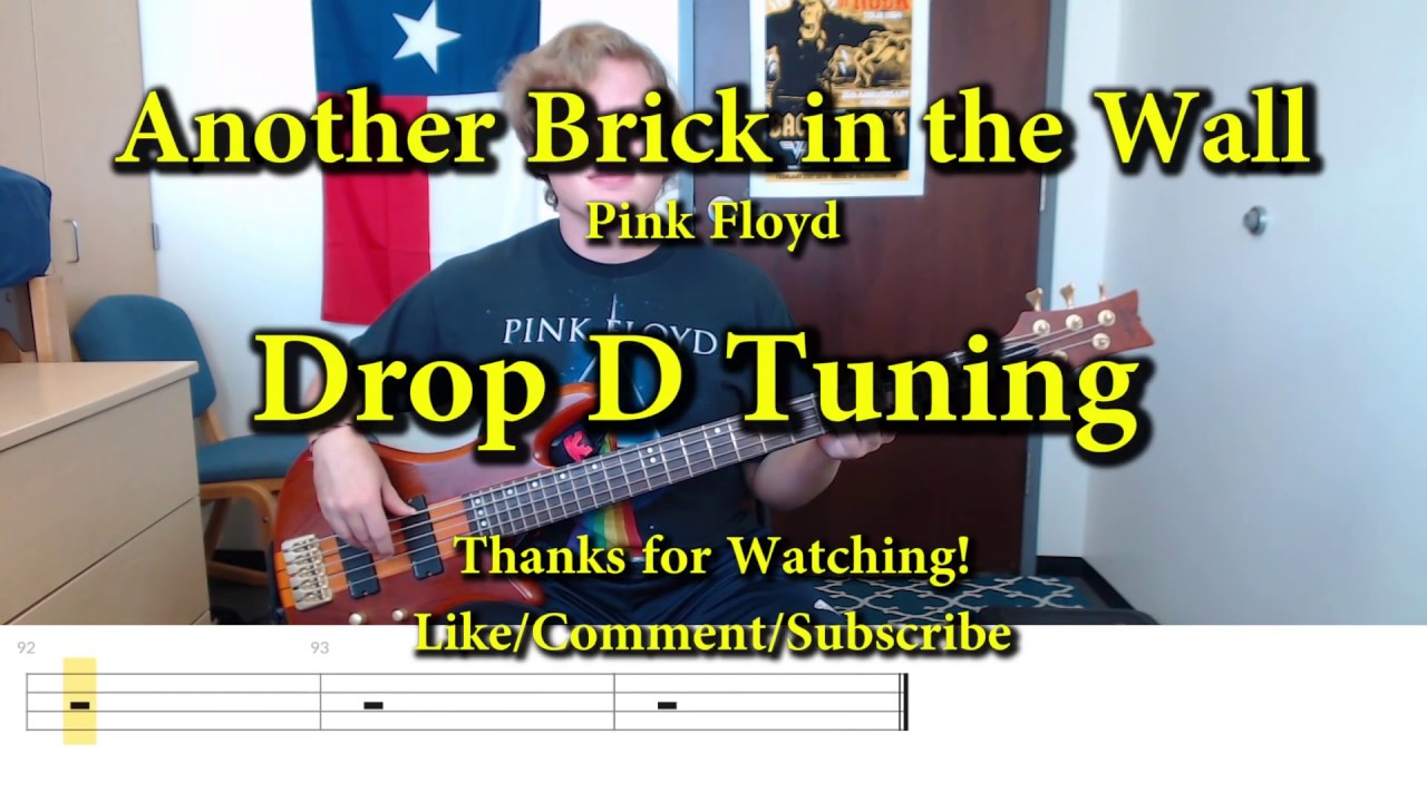 Another Brick In The Wall Pink Floyd Bass Cover With Tabs