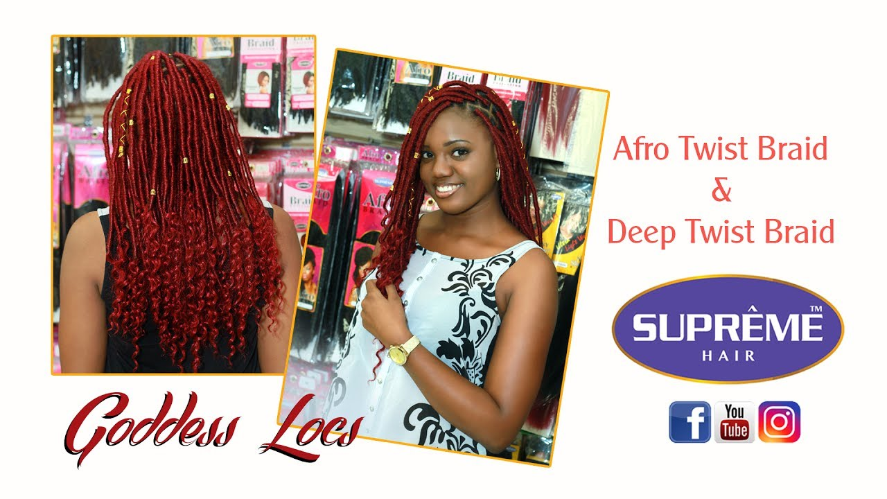 HAIRGOALS: Supreme Afro Twist Braid And Linda Deep Bulk Faux