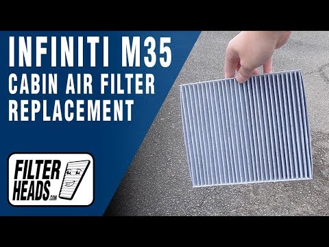How to Replace Cabin Air Filter 2006 Infiniti M35