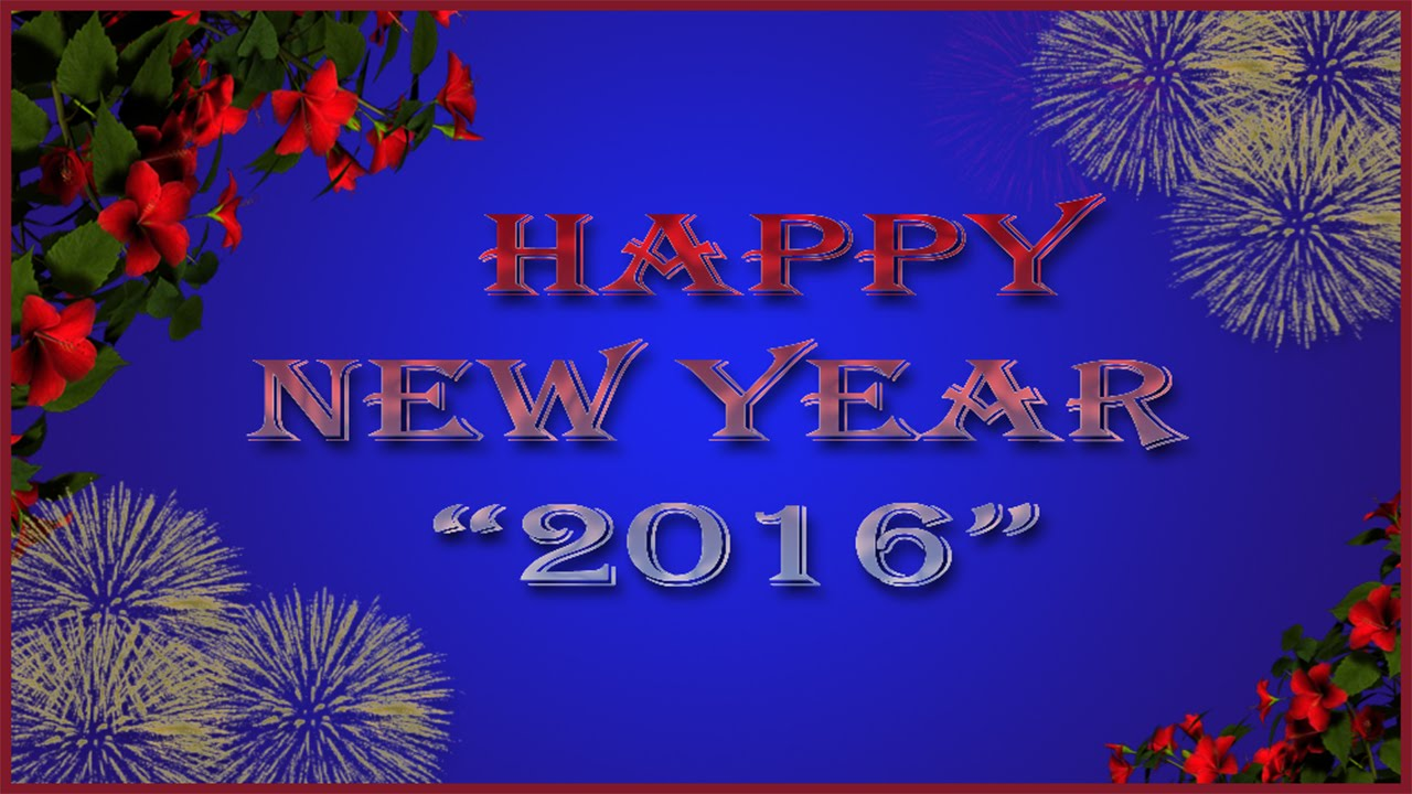 create new year card with photo