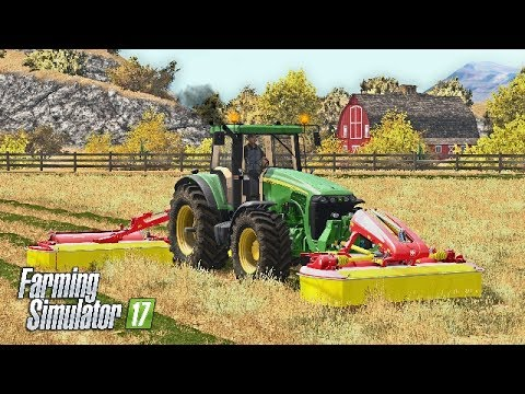 Farming Simulator 2017 | MOWING DRY GRASS | American Outback | Episode 12