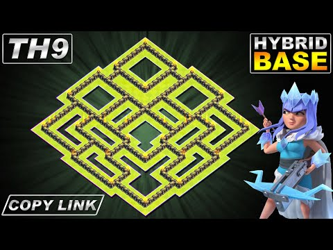 New BEST TH9 FARMING/TROPHY Base 2020 | Town Hall 9 (TH9) Hybrid Base Design - Clash Of Clans