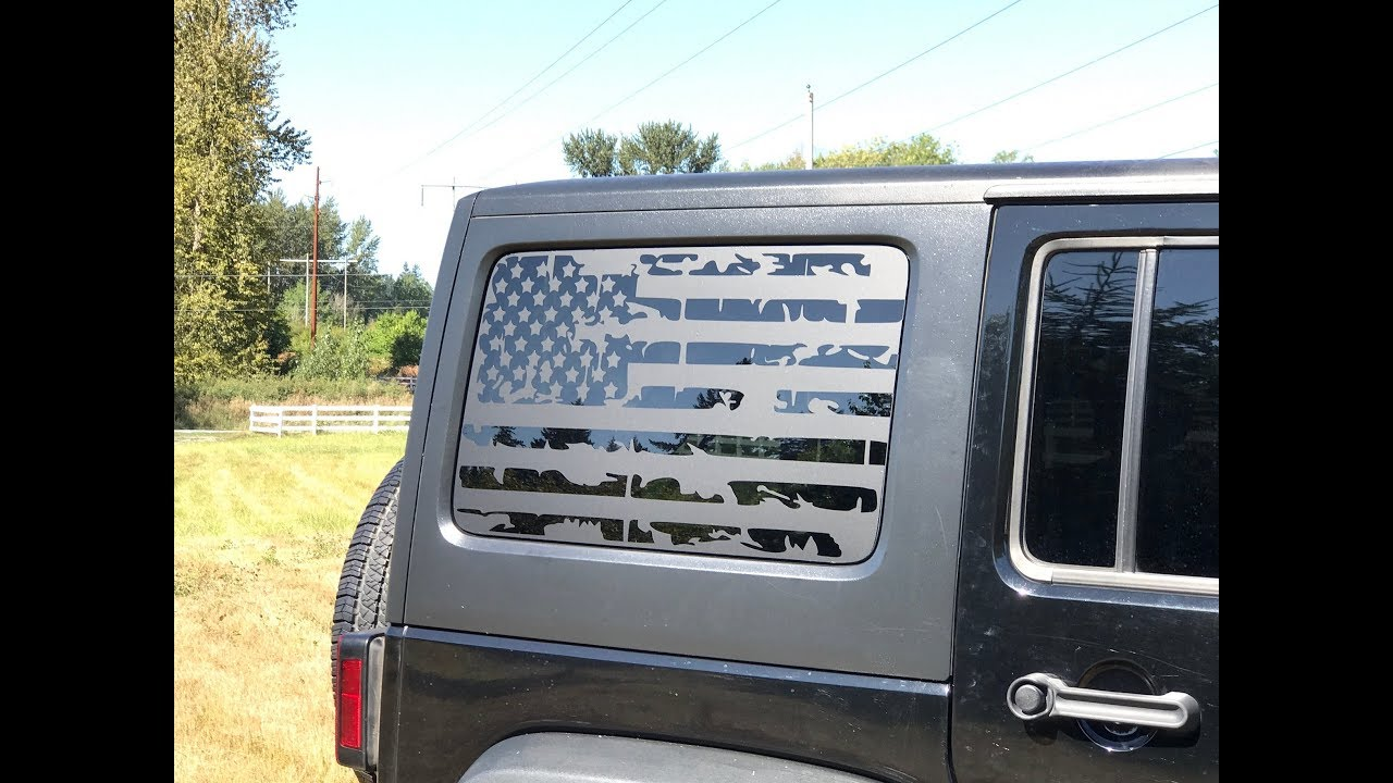 How To Install American Flag Decals On A 2011 2017 Jeep