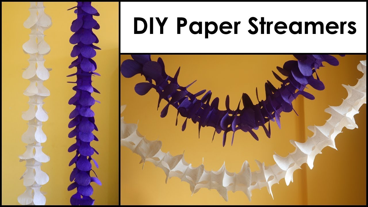 Diy Paper Decorations Paper Streamers Easy Paper Craft Ideas