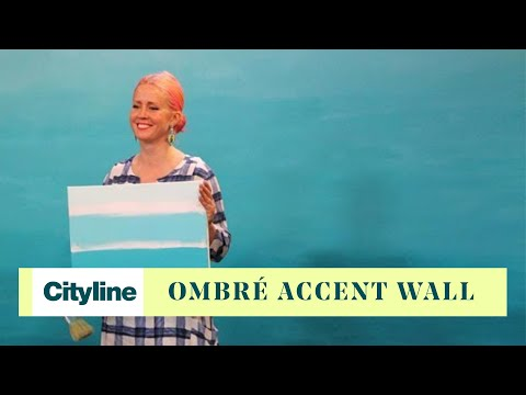 How to DIY an ombré accent wall