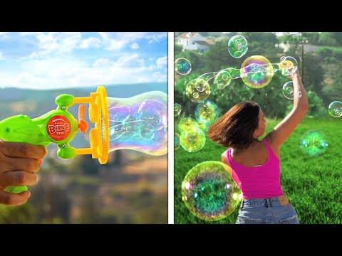 GIANT SOAP BUBBLES And Other Cool Outdoor Hacks || Camping, Vacation, Gadgets And Tools