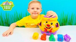 Чудесный горшочек для малышей от Fisher Price Развивающая интерактивная игрушка сортер
