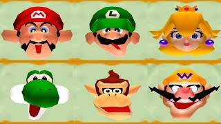 Mario Party 2 - Face Lift Minigame (All Characters)
