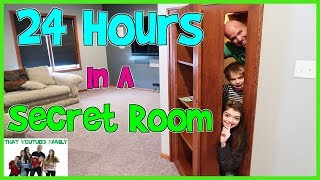 24 HOURS - In A Hidden Secret Room  / That YouTub3 Family |The Adventurers
