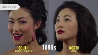 Vẻ đẹp của phụ nữ Hàn - Nhật qua một 100 năm