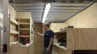 Building A Mobile Woodshop (part 26) Gfi Problem Solved, The Shop Is Bright.