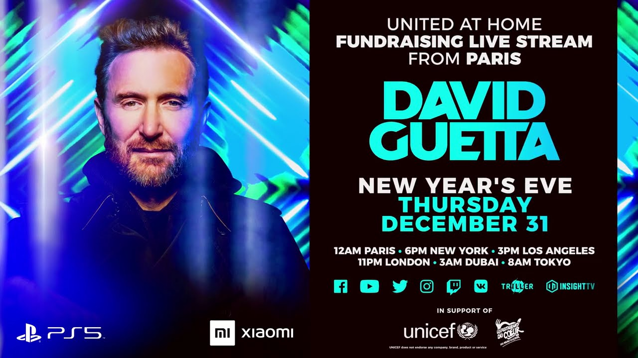 United At Home David Guetta New Year's Eve Livestream