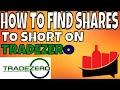 Finding Shares to Short on Tradezero