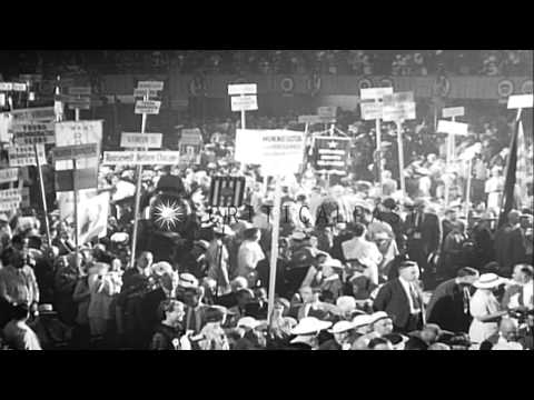 Scenes from the 1936 Democratic Party National Convention in Philadelphia HD Stock Footage