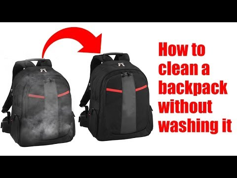 How to clean a backpack without washing it