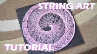 SPIRAL STRING ART | TUTORIAL | DIY | timelapse