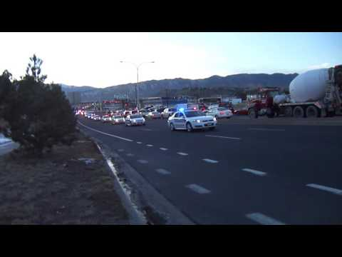 Funeral Procession for UCCS Officer Garret Swasey