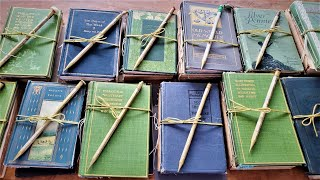 JUNK JOURNAL KITS FOR SALE in my Etsy Shop! Plain Antique Writing Journals + Ephemera! Paper Outpost