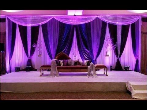 Simple Wedding Background Decoration Youtube