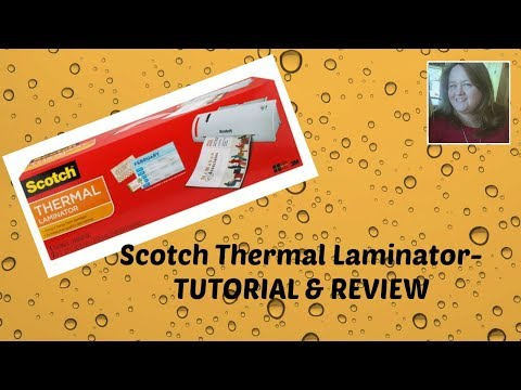 Scotch Thermal Laminator- Tutorial
