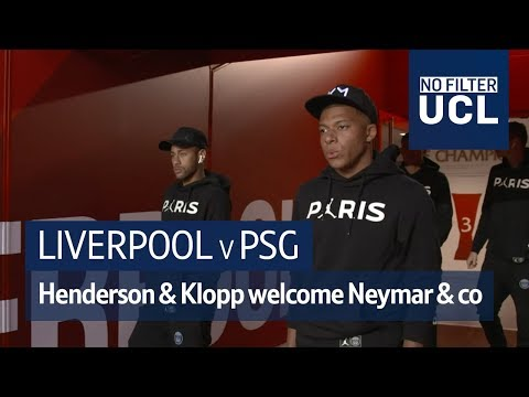 Liverpool v PSG   Henderson & Klopp welcome Neymar & Mbappe to Anfield   No Filter UCL