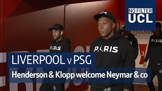 Liverpool v PSG | Henderson & Klopp welcome Neymar & Mbappe to Anfield | No Filter UCL