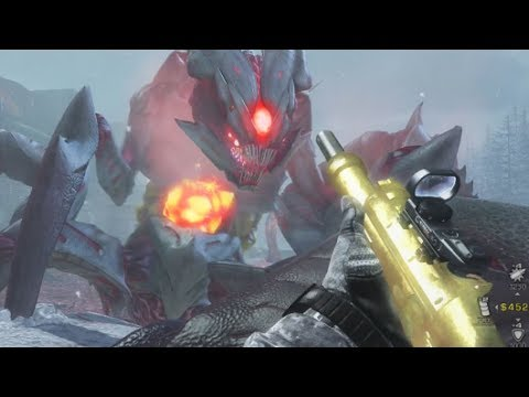 Nightfall Extinction PS4 Gameplay Boss Ending + Gold Camo Tip - Call Of Duty Ghosts Onslaught DLC