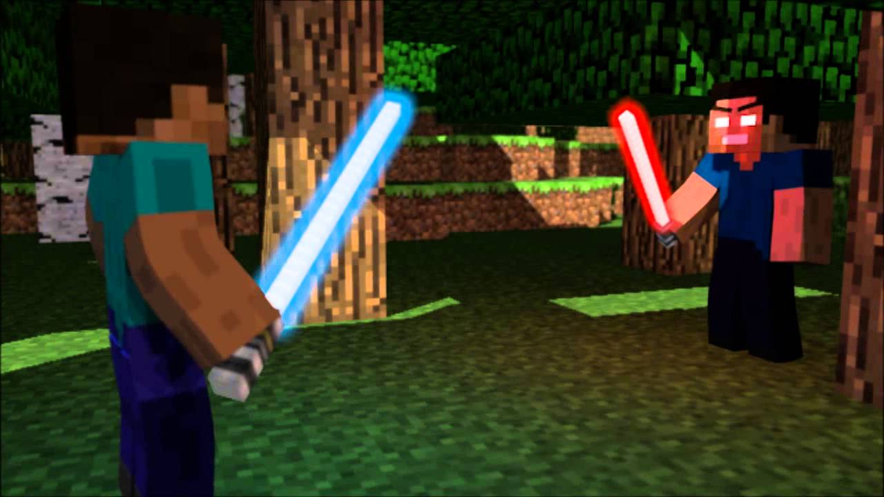 Minecraft the lightsaber youtube