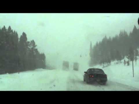 COLORADO ROCKY MOUNTAIN SNOW STORM INTERSTATE 70 ROCKIES DENVER