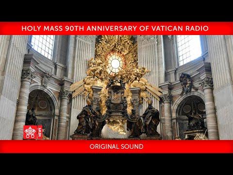 12 February  2021 Holy Mass 90th anniversary of Vatican Radio