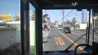 【前面展望】車庫前~寿町~JR高槻駅南【高槻市交通部バス・1B系統】