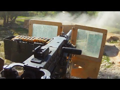 50 Cal Gunner Engages Taliban Positions During Ambush