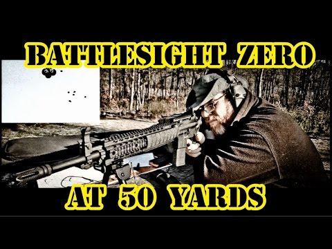 How To Battlesight Zero an AR15 @ 50 Yards!!!  Battlesight Zero AR15 Part Two!!