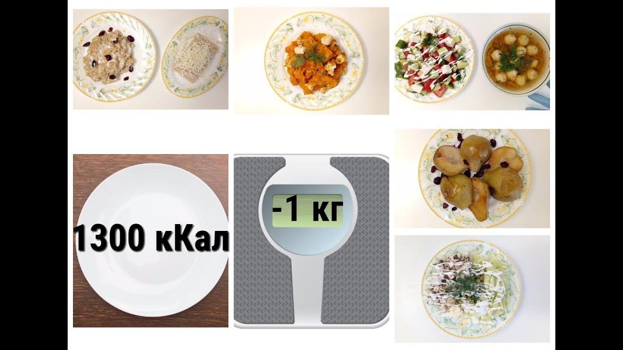 Правильное питание для похудения 1300 кКал - YouTube