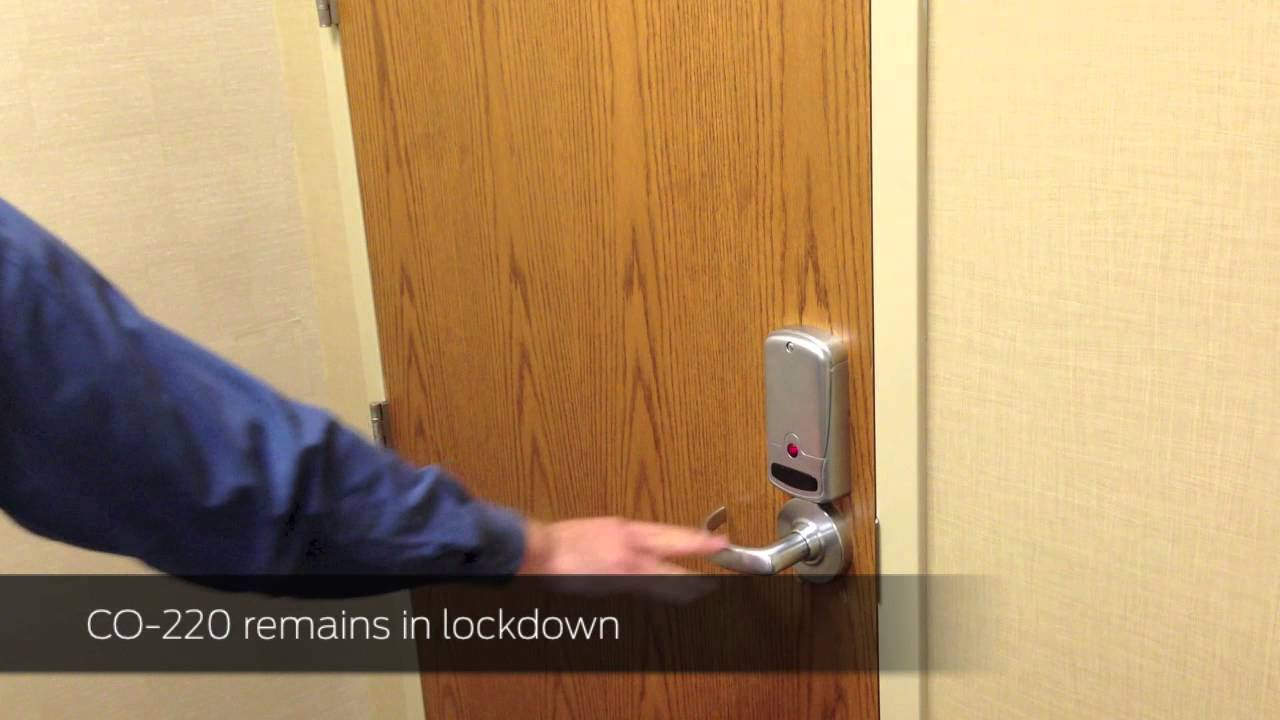 Schlage Co 220 Classroom Lockdown Solution How To Operate Youtube