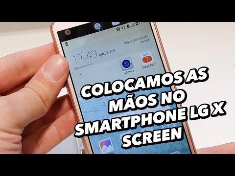 Colocamos As Mãos No Smartphone LG X Screen [Hands On] - MWC 2016