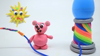 Teddy Bear Making Rainbow And Playing A Game