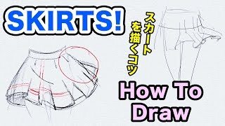 How To Draw SKIRTS|Japanese Girl Style|スカートを描くコツ