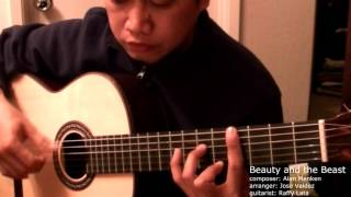 Beauty and the Beast - A. Menken (arr. Jose Valdez) Solo Classical Guitar