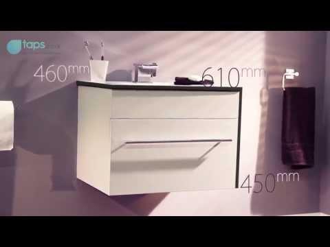 Aviva 60cm Wall Mounted White Vanity Unit