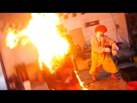 Ronald McDonald BURNS THE BURGER KING! from YouTube · Duration:  1 minutes 3 seconds