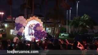 Miramar, Fl.  Misa y procesion en honor al Sr  de los Milagros parroquia San Esteban 2014