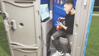 I Spent the Night in a Porta Potty and It Was Luxurious (Sleep in a Portable Toilet Challenge) thumbnail