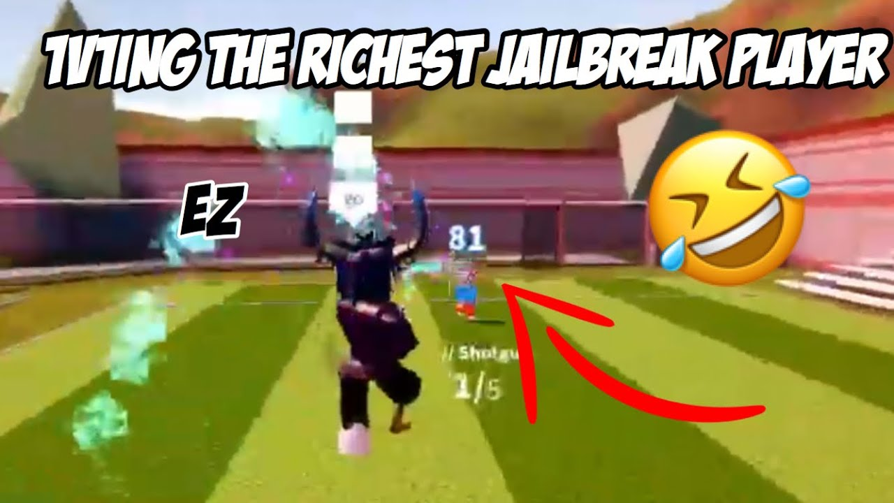The Richest Jailbreak Player Gets Mad Roblox Jailbreak 1v1ing The Richest Jailbreak Player Roblox Jailbreak Youtube