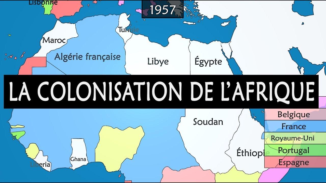 la colonisation de l u0026 39 afrique - r u00e9sum u00e9 sur carte