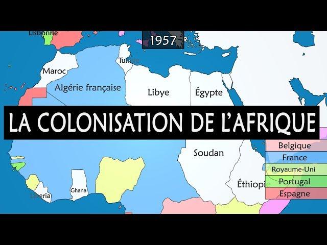 La colonisation de l'Afrique - Résumé sur carte