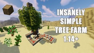 INSANELY simple AFK TREE farm Minecraft 1.16