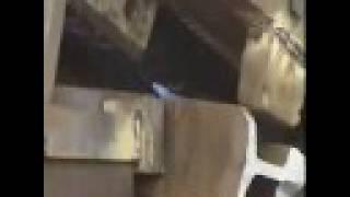 Przecinanie szyn kolejowych, Kajman 1000 Maszyny do złomu, nożyce hydrauliczne Kajman 1000, złom,